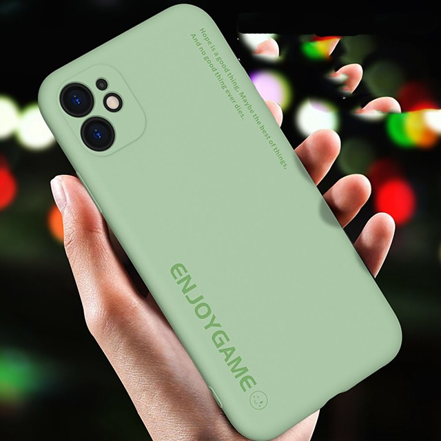 Text Silicone Case For iPhone 11 Pro Max Soft Cover Full Coverage Protect Phone Bag Case For iPhone 11 11Pro Back Cover