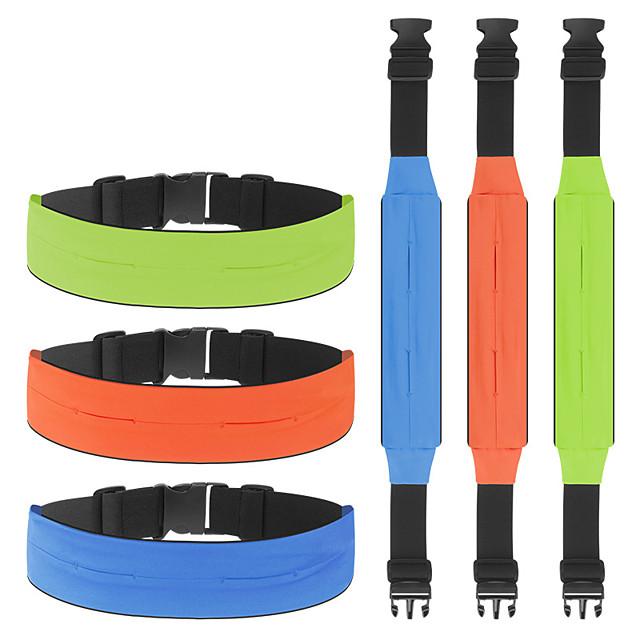 Running Belt Fanny Pack Belt Pouch / Belt Bag for Running Hiking Outdoor Exercise Traveling Sports Bag Adjustable Waterproof Portable Polyester Men's Women's Running Bag Adults