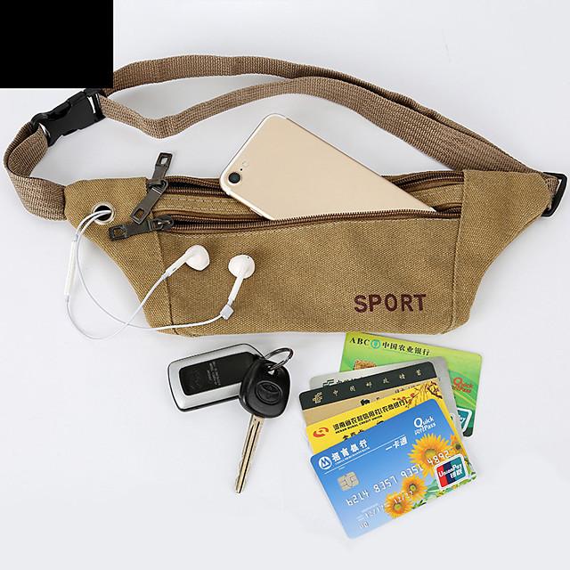 Running Belt Fanny Pack Belt Pouch / Belt Bag for Running Hiking Outdoor Exercise Traveling Sports Bag Adjustable Waterproof Portable Canvas Men's Women's Running Bag Adults