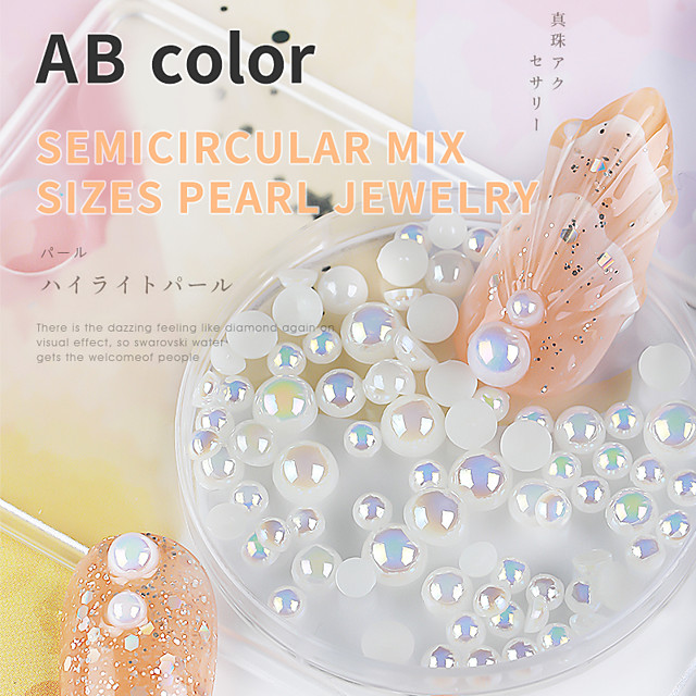 1 pcs High Transparency / Creative / Wearproof Pearl Pearls For Finger Nail Creative nail art Manicure Pedicure Party / Evening / Daily / Festival Aristocrat Lolita / Romantic