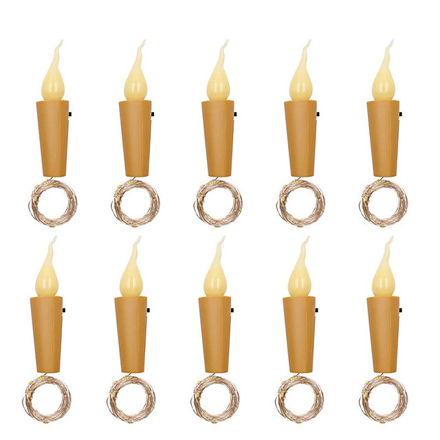 10pcs 6pcs 20 leds Candle Wine Bottle Lights With Cork 2M LED String Lights Batteries Powered Garland String Fairy Night Lamp Wedding Decoration