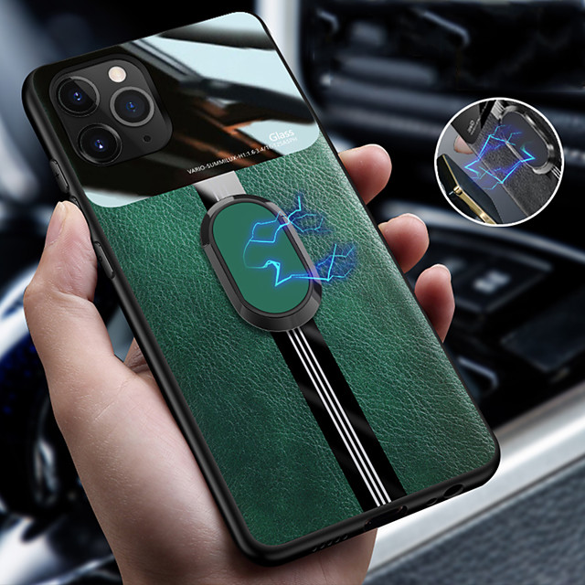 Case for iPhone 11Pro Max eye Protection Pattern Anti-fingerprint Mobile Phone Case for XS Max With Magnetic Ring Holder 6 7 8Plus SE2020 Protective Case