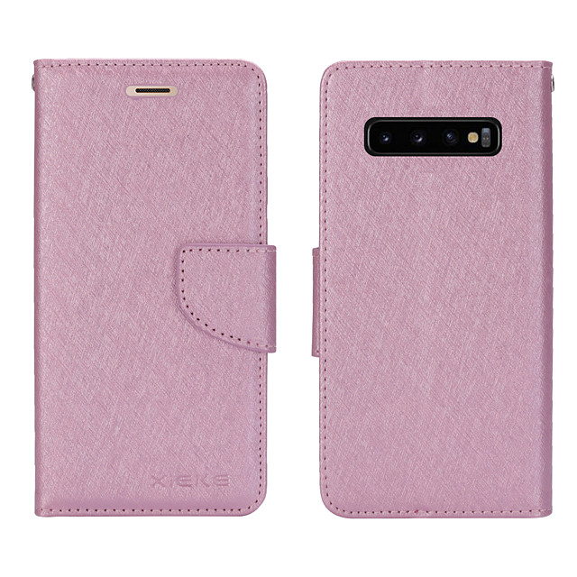 Case For Samsung Galaxy S20/S20 Plus/S20 Ultra/S10/S10E/S10 Plus/S10 5G/S9/S9 Plus/A10S/A10/A20/A20S/A30 Card Holder / Shockproof / Flip Full Body Cases Solid Colored PU Leather / TPU