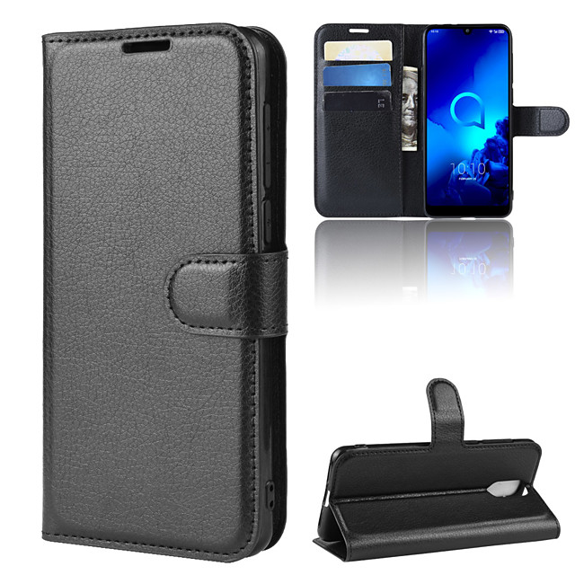For Alcatel 3L Litchi Texture Horizontal Flip Leather Case with Wallet & Holder & Card Slots