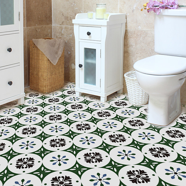 floor is pasted with waterproof wear-resistant and thickened tiles pasted with household kitchen and toilet self adhesive