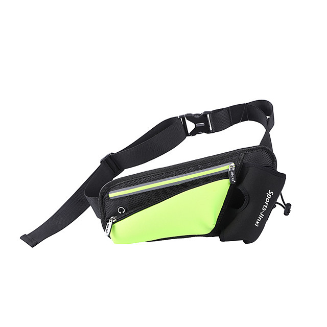 Running Belt Fanny Pack Belt Pouch / Belt Bag for Running Hiking Outdoor Exercise Traveling Sports Bag Adjustable Waterproof Portable with Water Bottle Holder Waterproof Material Men's Women's
