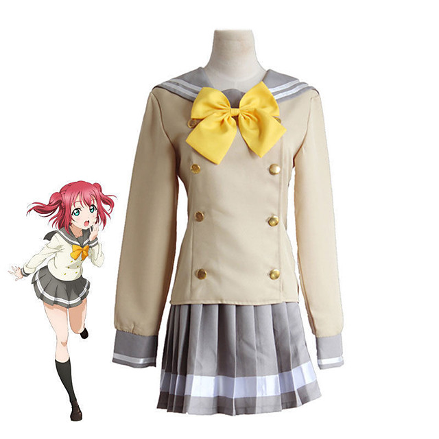 Inspired by Love Live Anime Cosplay Costumes Japanese Cosplay Suits Top Skirt Bow Tie For Women's