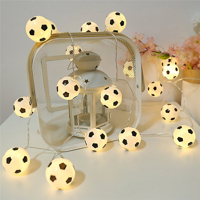String Lights 10 LEDs Soccer Football Accessories Atmosphere For Bar Decoration Party Club Fans Supplies World Cup