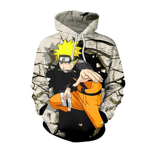 Inspired by Naruto Cosplay Costume Hoodie Polyster Print Printing Hoodie For Men's / Women's