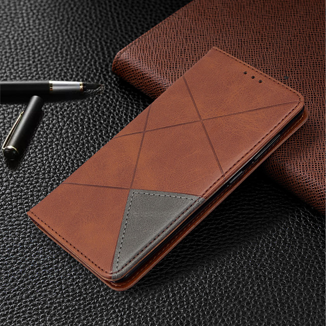 Case For Huawei P Smart 2020 Huawei P40 Huawei P40 Pro Card Holder  with Stand Full Body Cases Geometric Pattern PU Leather for P40 lite P smart P30 lite P30pro