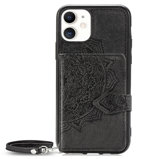 Case For Apple iPhone 11 / iPhone 11 Pro / iPhone 11 Pro Max Wallet / Card Holder / Pattern Back Cover Flower Oxford Cloth