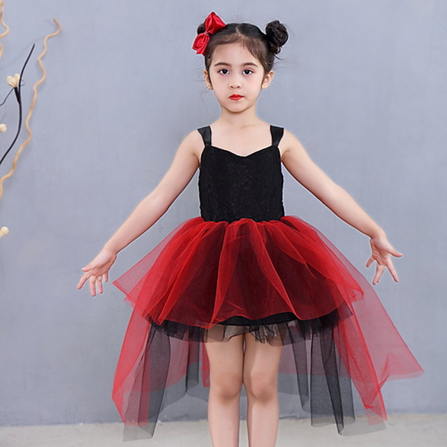 Kids' Dancewear Tutu Dress Dress Ruching Girls' Training Daily Wear Polyester
