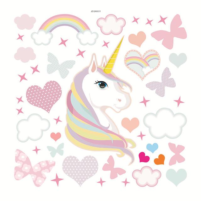 Hearts /Unicorn Decorative Wall Stickers - Plane Wall Stickers Nursery / Kids Room