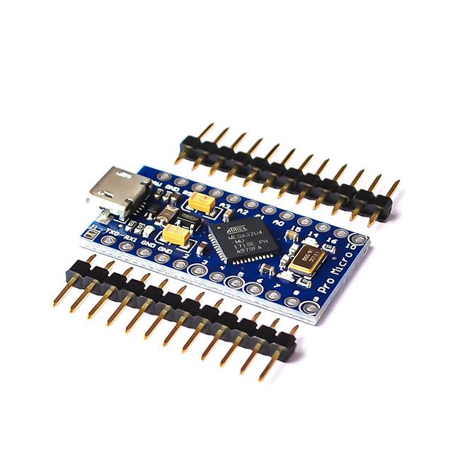 Pro Micro Atmega32u4 5v 16mhz Reemplaza Atmega328 Por Arduino Atmega 32u4 Pro Mini Con Encabezado De Pin De 2 Filas 8061417 2021 9 44