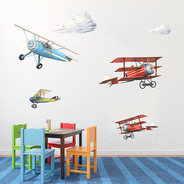 Planes Wall Stickers Plane Wall Stickers Decorative Wall Stickers PVC Home Decoration Wall Decal Wall Window Decoration 1pc