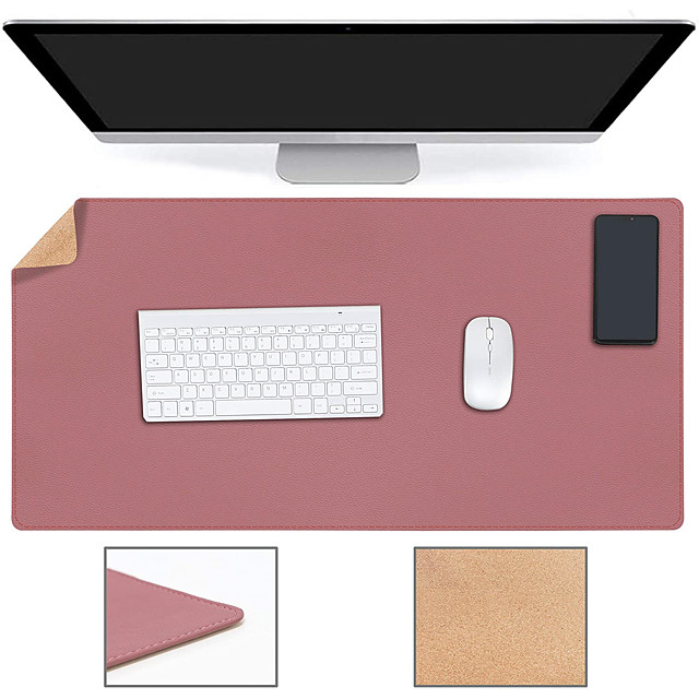 PR800 800*400*2 mm Basic Mouse Pad / Large Size Desk Mat / Office Use Leather / Log Dest Mat