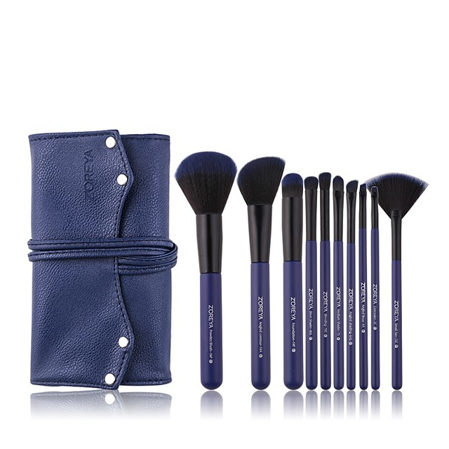 Professional Makeup Brushes 10pcs Soft Artificial Fibre Brush Plastic for Foundation Brush Makeup Brush Set