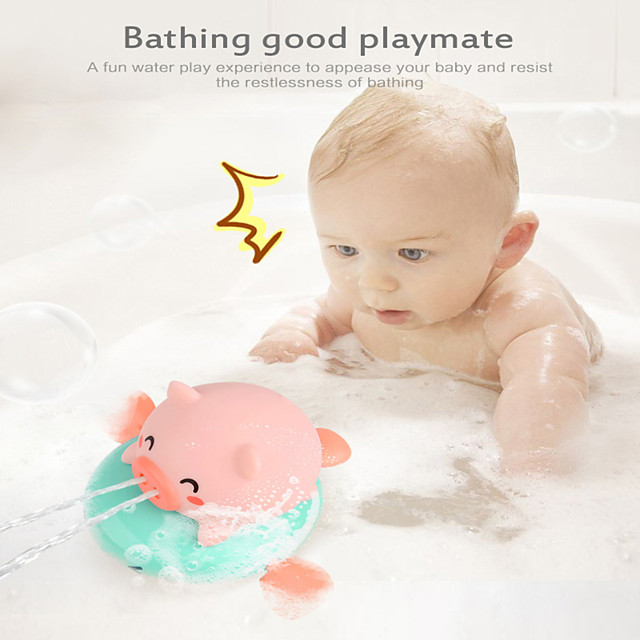 Bath Toy Water Toy Piggy Ride Flying Fish Children's Electric Shower Summer Bath Fun Bath Toys Children Water Play Baby Swimming