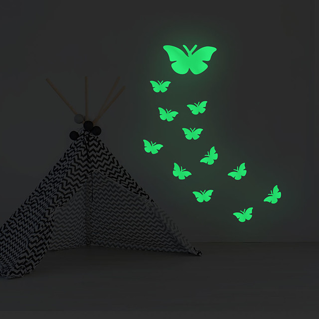 Luminous Stickers Butterfly Home Background Decoration Removable Stickers
