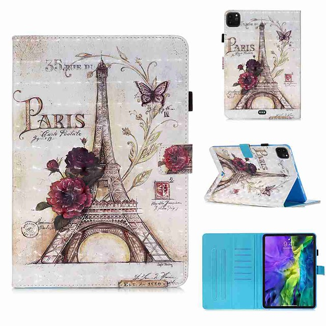 Case For Apple iPad Pro 11''(2020) / iPad 2019 10.2 / Ipad air3 10.5' 2019 Wallet / Card Holder / with Stand Full Body Cases 35 Tower PU Leather / TPU for iPad Air / iPad 4/3/2 / iPad (2018)