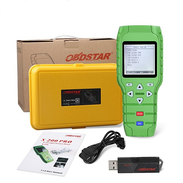 OBDSTAR X-200 X200 Pro AB Type for Oil Reset  OBD Software  EPB Function Update Online