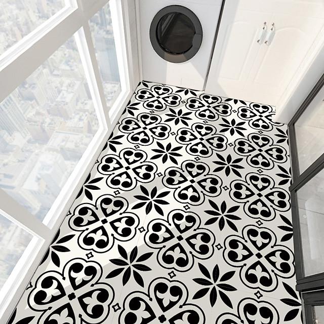 PVC antiskid twill print spade heart stone floor paste bathroom bedroom living room DIY floor paste
