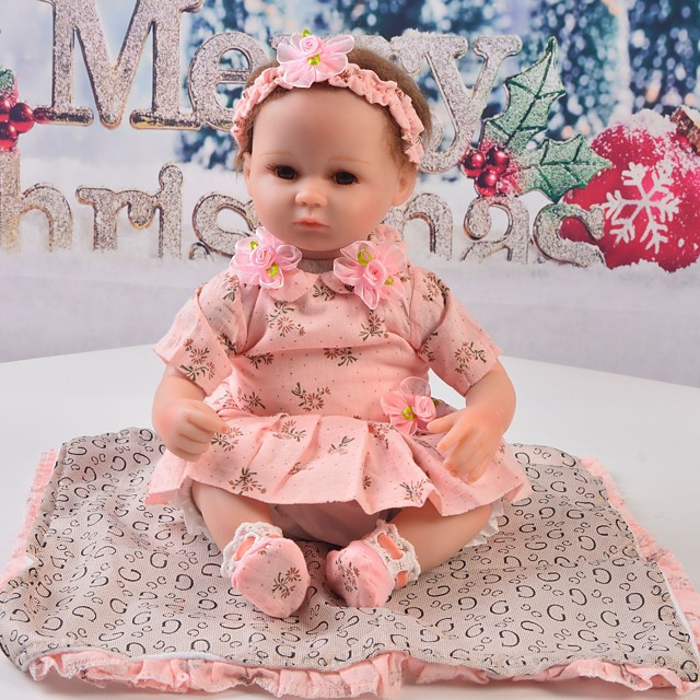 Reborn Baby Dolls Clothes Reborn Doll Accesories Cotton Fabric for 17-18 Inch Reborn Doll Not Include Reborn Doll Lace Flower Soft Pure Handmade Girls' 5 pcs