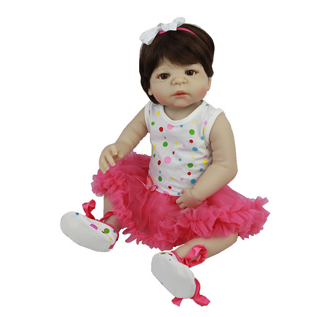 Reborn Baby Dolls Clothes Reborn Doll Accesories Cotton Fabric for 22-24 Inch Reborn Doll Not Include Reborn Doll Skirt Soft Pure Handmade Girls' 3 pcs