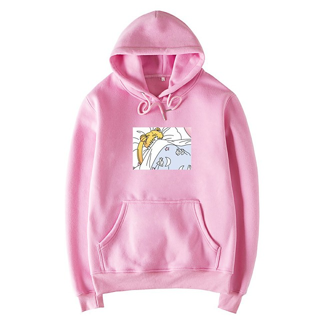 Inspired by Sailor Moon Cosplay Costume Hoodie Poly / Cotton Print Printing Hoodie For Men's / Women's