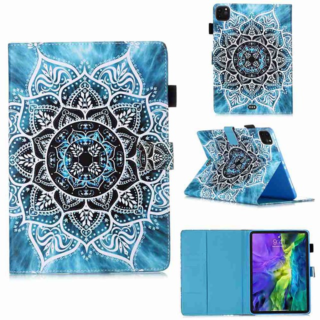 Case For Apple iPad Pro 11''(2020) / iPad 2019 10.2 / Ipad air3 10.5' 2019 Wallet / Card Holder / with Stand Full Body Cases Mandala PU Leather / TPU for iPad Air / iPad Air2 / iPad (2018)