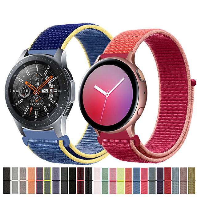 Nylon Wrist Strap Watch Band for Samsung Galaxy Watch 46mm / Galaxy Watch Active 2 / Gear S3 Classic / S3 Frontier / Galaxy Watch 42mm / Gear S2 Classic / Gear Sport Replaceable Bracelet Wristband