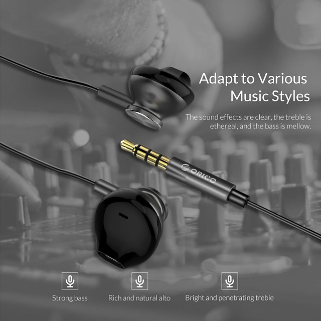 ORICO In-ear Wired Earphone Colorful HiFi Headset Gamer Bass Music Headphones with Mic for iPhone