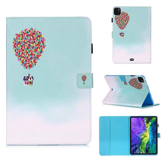Case For Apple iPad Pro 11''(2020) / iPad 2019 10.2 / Ipad air3 10.5' 2019 Wallet / Card Holder / with Stand Full Body Cases Balloon House PU Leather / TPU for iPad Air / iPad 4/3/2 / iPad (2018)
