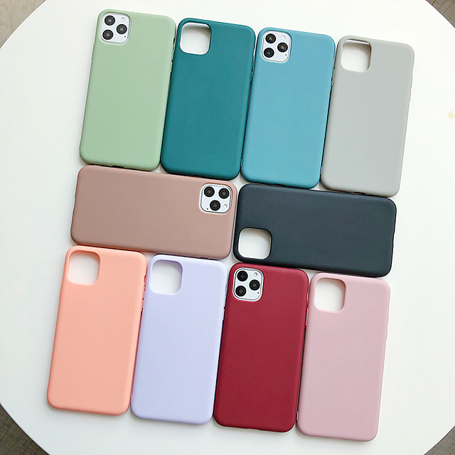 Soft TPU Color Case for iPhone 6 6S 7 8 Plus X XR XS SE Max 11Pro Max Luxury Silicone Protective Case