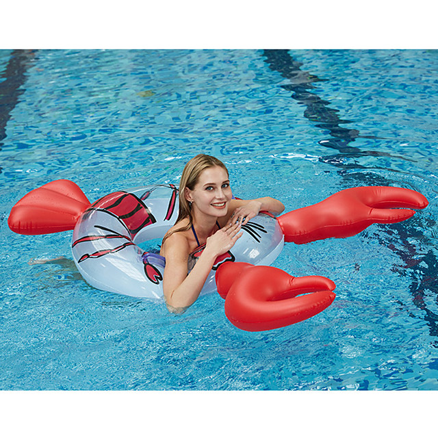 Swim Rings Pool Float Pool Floaties Fun Inflatable Giant Soft Plastic Summer Lobster Vacation Beach Swimming Pool Party Men's Women's Adults
