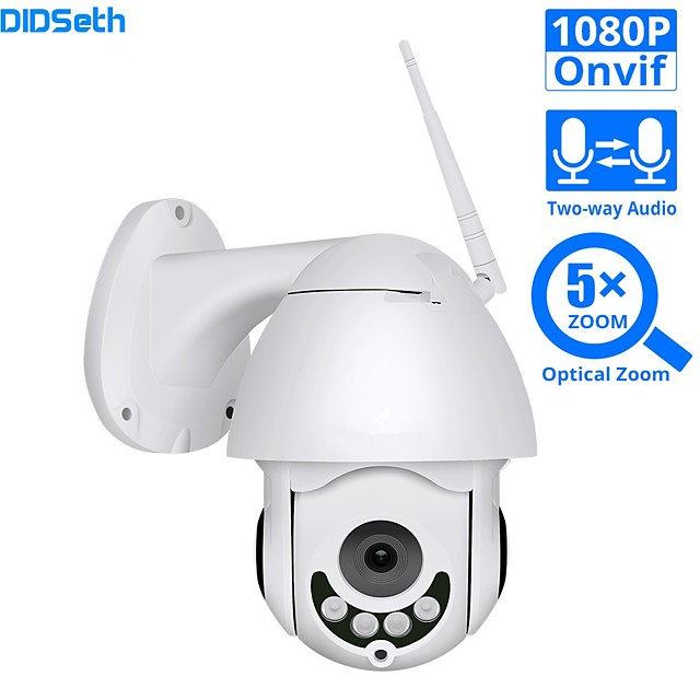DIDSeth 1080P WIFI IP Camera PTZ 5X Optical Zoom Speed Dome ONVIF CCTV Outdoor Waterproof 2MP Two Way Audio Camera iCsee