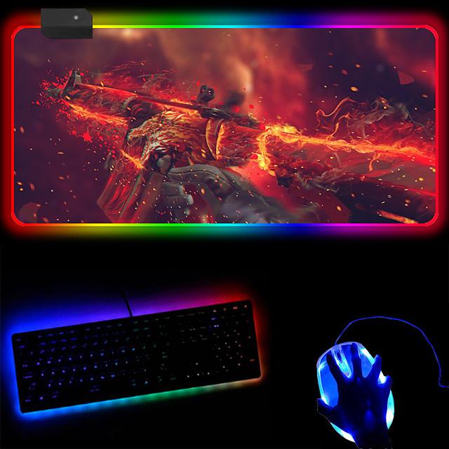 Color Luminous Mouse Pad Plus Logo Large Rgb Magic Large Luminous Mouse Pad 250 * 350 * 4mm