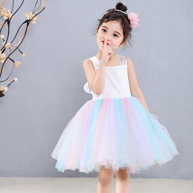 Kids' Dancewear Dress Ruching Girls' Training Daily Wear Sleeveless Polyester