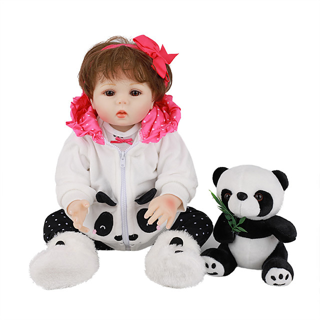 FeelWind 18 inch Reborn Doll Baby & Toddler Toy Reborn Toddler Doll Baby Girl Gift Cute Lovely Parent-Child Interaction Tipped and Sealed Nails Full Body Silicone LV029 with Clothes and Accessories