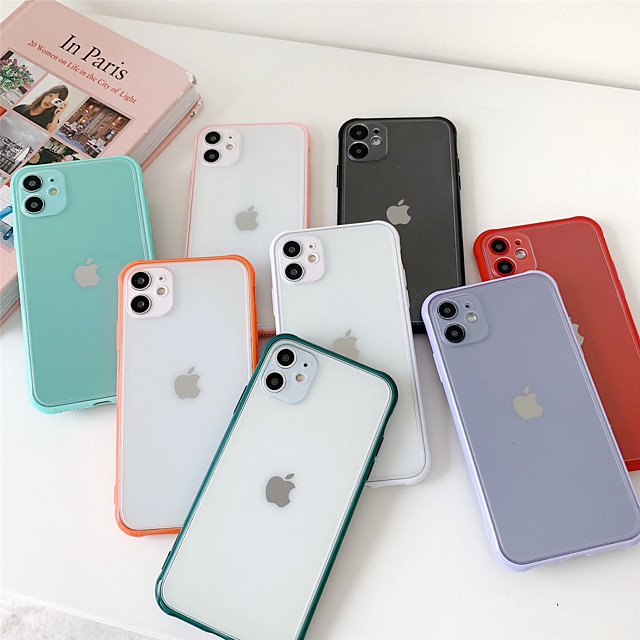 Candy Transparent Case for Apple iPhone Case 11 Pro Max X XR XS Max 8 Plus 7 Plus SE(2020) Protection Cover