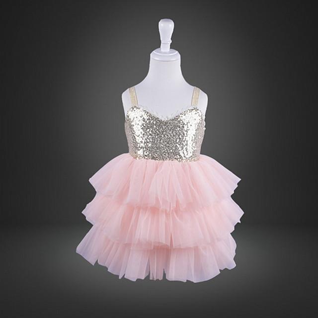 Kids' Dancewear Tutu Dress Dress Ruching Girls' Training Performance Polyester