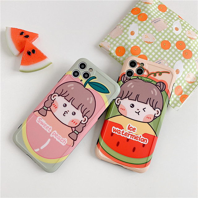 Soft TPU Fruits Watermelon Case Cover For iPhone 7 8 Plus  X XS XR 11 Pro Max 11Pro se 2020 Silicon Capa