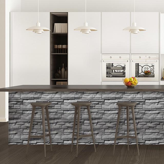 Limestone brick pattern PVC simulation self-adhesive DIY decorative wall stickers bar stickers
