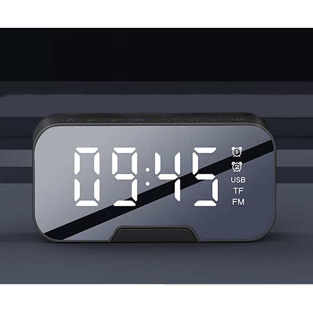 Q5 Bluetooth Speaker Wireless Alarm Clock TF Card AUX Speaker Radio USB Subwoofer Portable Audio LED Music Sound Box
