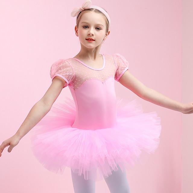 Swan Lake Princess Ballet Dancer Dress Girls' Movie Cosplay Purple / Red / Pink Dress Christmas Halloween Children's Day Cotton