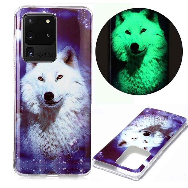 Case For Samsung Galaxy S20 S20 Plus S20 Ultra Glow in the Dark Pattern Back Cover Star Wolf TPU for Galaxy A21 A11 A01 A70E A51 A71