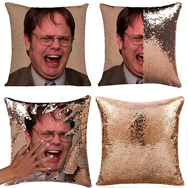 Sequin Pillow Cover Cushion Household Products Sequin Pillow Cover 40x40cm