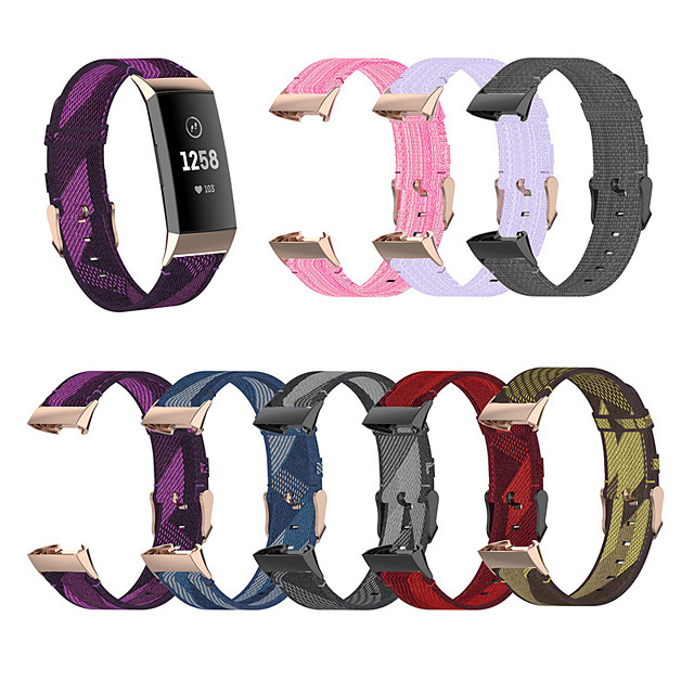 Replacement Watch Band for Fitbit Charge 3 Woven Nylon Sport Bracelet Belt Replacement Wristband Small Large Strap for Fitbit Charge 3 / Fitbit Charge 4