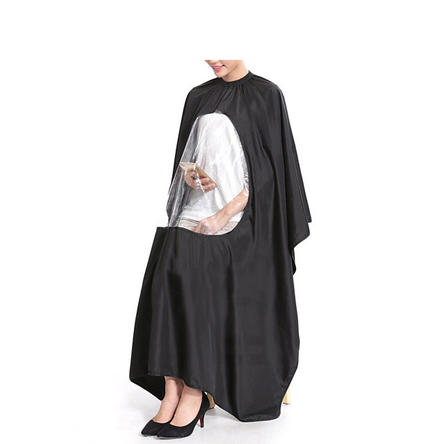 Adult Salon Hair Cut Hairdressing Barbers Hairstylist Cape Gown Waterproof Barber Cover Cloth Transparent Covers