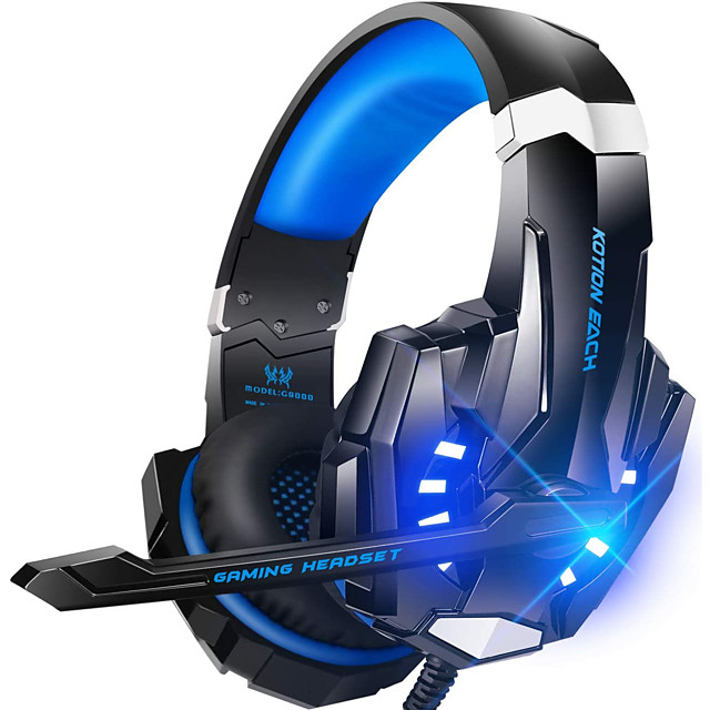 G9000 Gaming Headsets KOTION EACH Headset Over-ear Wired Game Earphones Gaming Headphones Deep Bass Stereo Casque with Microphone Mic for PS4 new XBox PC Computer Laptop Gamer